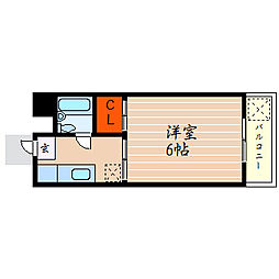 滋賀県彦根市八坂町の賃貸アパートの間取り