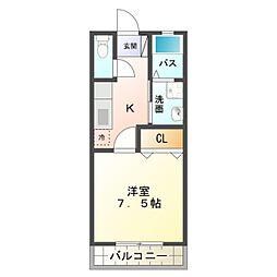 愛知県岡崎市八帖北町の賃貸アパートの間取り