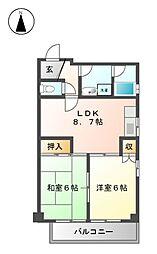 愛知県名古屋市名東区名東本通3丁目の賃貸マンションの間取り