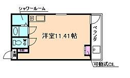 JR大阪環状線 弁天町駅 徒歩10分の賃貸マンション 3階ワンルームの間取り