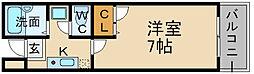 兵庫県宝塚市中筋山手1丁目の賃貸マンションの間取り