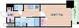 アーバンパーク梅田イースト 10階1Kの間取り