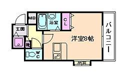ディナスティ福島[11階]の間取り