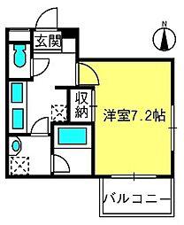 オンブレロ参道II[2階]の間取り