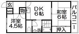 楽友コーポ1号館[3階]の間取り