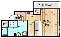 P・Sマンション中加賀屋[5階]の間取り