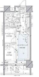 東京都千代田区神田美土代町の賃貸マンションの間取り