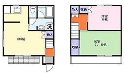 [テラスハウス] 千葉県船橋市高野台1丁目 の賃貸【/】の間取り