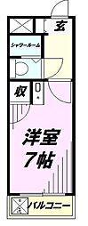 埼玉県所沢市美原町5丁目の賃貸マンションの間取り
