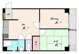 ハウスミエ[3階]の間取り