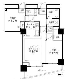 河田町コンフォガーデン2号棟[12階]の間取り