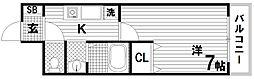 フルール須磨[2階]の間取り