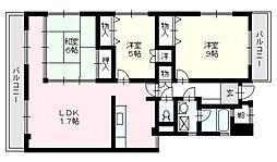 グランフォルム平尾山荘[402号室]の間取り