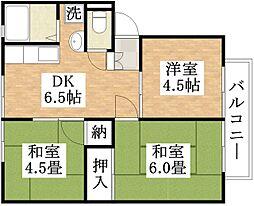 松田サンビレッジ[B201号室]の間取り