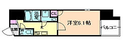 Osaka Metro谷町線 南森町駅 徒歩5分の賃貸マンション 7階1Kの間取り