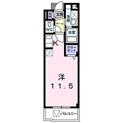 ユング フラウII 2階ワンルームの間取り