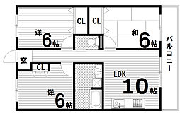 エトワール須磨[2階]の間取り