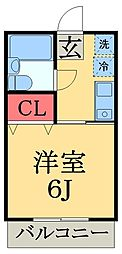 千葉県大網白里市永田の賃貸アパートの間取り