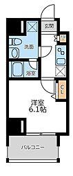プライマル横濱平沼橋 3階1Kの間取り