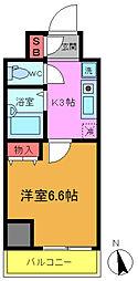 ガルダ船橋本町[206号室]の間取り