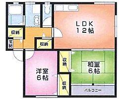 新潟県胎内市東本町の賃貸アパートの間取り