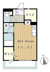 ロフティー 1階ワンルームの間取り