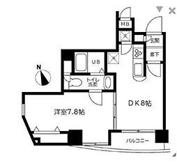 デュオ・スカーラ虎ノ門[12階]の間取り
