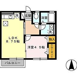 モナリエローザ[1階]の間取り