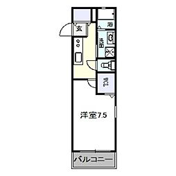 南海高野線 白鷺駅 徒歩3分の賃貸アパート 1階1DKの間取り