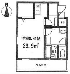 神奈川県横浜市南区大岡5丁目の賃貸マンションの間取り