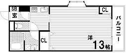 ウィスティリアコート神戸II[2階]の間取り