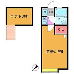 ローズアパート(R40)[103号室]の間取り
