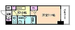 プレサンス大阪福島シエル[9階]の間取り