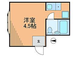 フェリーチェ・トレ[4階]の間取り