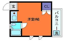 兵庫県神戸市東灘区田中町3丁目の賃貸アパートの間取り