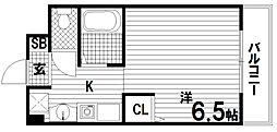 PARKHILLSKOBE−2(パークヒルズコウベ2)[3階]の間取り