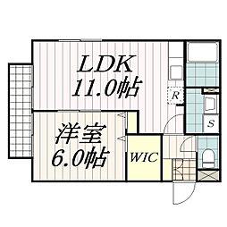 マルミヤハイツ[2階]の間取り