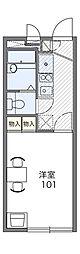 松が岡ハイツII[1階]の間取り