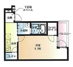JR阪和線 堺市駅 徒歩8分の賃貸アパート 3階1Kの間取り