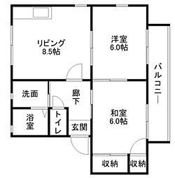 メゾンドプリュームA・B棟[1階]の間取り