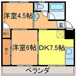 倉井マンション[2階]の間取り