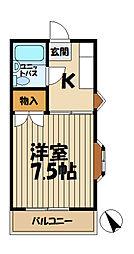 ホワイトハイム[2階]の間取り