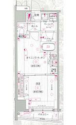 東京都新宿区市谷本村町の賃貸マンションの間取り