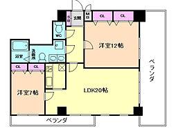ラ・プリメラ[8階]の間取り