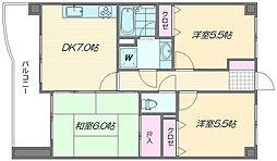 ロマネスク箱崎タワーホームズ N棟[703号室]の間取り