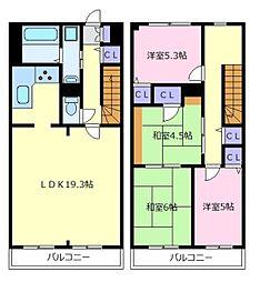 キャスビック田井城[1階]の間取り