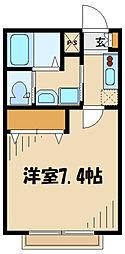 タウンSUNコート高幡不動 1階1Kの間取り