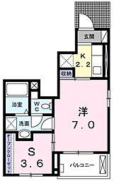 東京都青梅市河辺町6の賃貸アパートの間取り