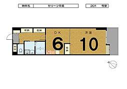 セリーン平尾 〜スーパー「マキイ」お隣り・Jcom 12M導[201号室]の間取り