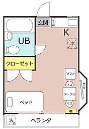 小松メゾン[201号室]の間取り